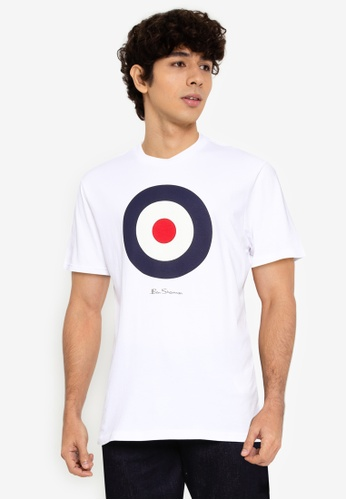Ben Sherman white Target Tee 6A61BAA361B4EAGS_1