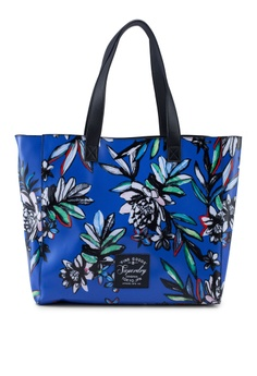 23a869cd69 Superdry blue Elaina Printed Tote Bag 3B90FAC8B64F3CGS_1