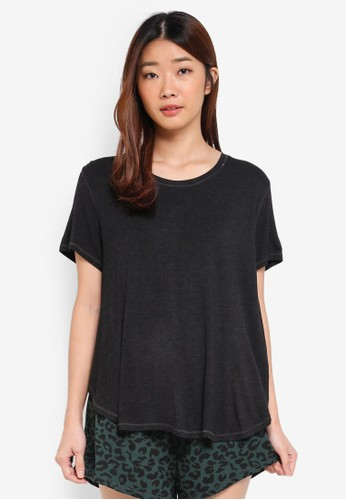 Cotton On Body black Premium Sleep Curved T-Shirt 6A0D3AAA90EED4GS_1