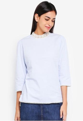 ESPRIT blue Woven Long Sleeve Blouse 9E3CAAA285F055GS_1