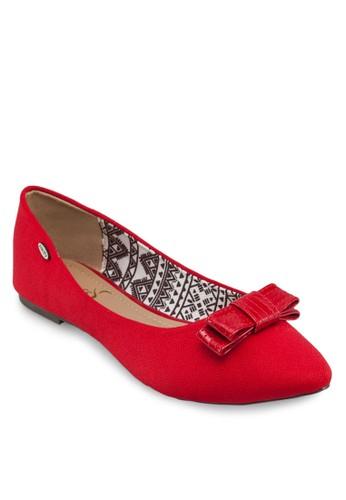 蝴蝶結尖zalora 評價頭平底鞋, 女鞋, 鞋