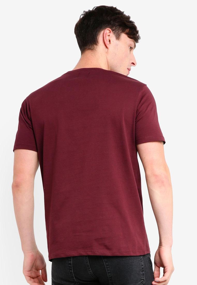Menswear Shirt Burton Burgundy Burgundy Print Mxcviii London T 1waq67x