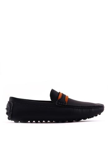 7soles black Dustin MS Smart Casual Shoes 7S266SH0JRZPPH_1
