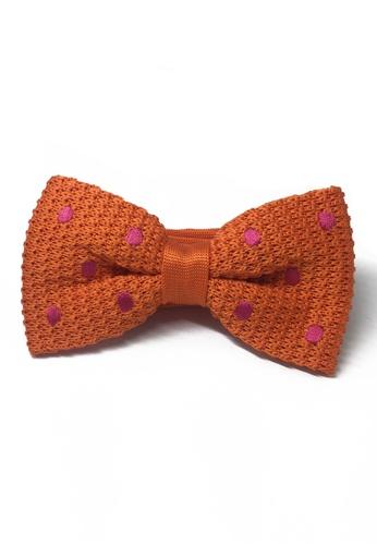 Splice Cufflinks orange Webbed Series Bright Polka Dots Orange Knitted Bow Tie SP744AC04UATSG_1