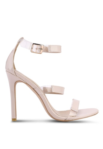 Public Desire beige Helios Strappy Patent Heels 28F4DSH5FE079BGS 1