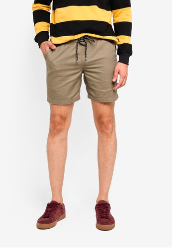 Penshoppe brown Drawstring Shorts 92677AABC9B889GS_1