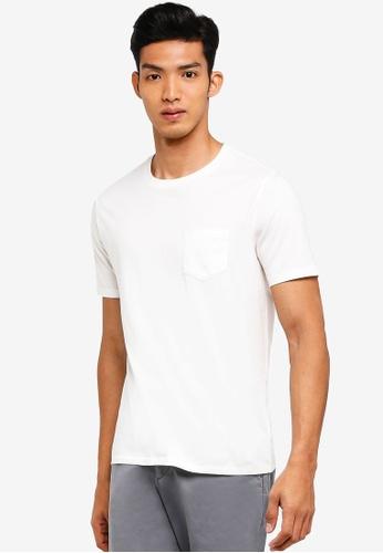 GAP white Crew Neck Pocket T-Shirt 12D63AA29B1F7CGS_1