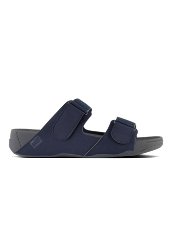 Fitflop grey and navy Fitflop Men Gogh Moc Slide In Neoprene Midnight Navy 8B0BESH0E81055GS_1