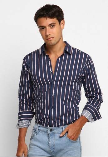 VENGOZ blue Chester LS Shirt 62AEDAAAD20E5DGS_1