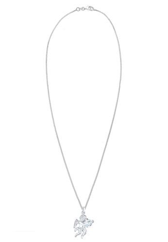 ELLI GERMANY white Necklace Angel Heart Zirconia 925 Silver EL474AC0SEUWMY_1