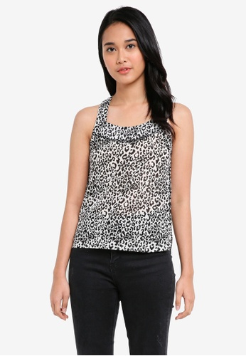 UniqTee black Printed Tank Top 55AA9AA769D446GS_1