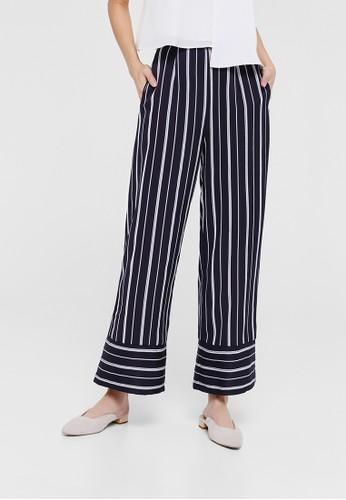 Love, Bonito navy Nyla Striped High Waist Pants 5A2E0AA315DA33GS_1