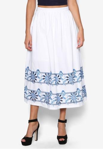 繡花及esprit outlet 台中膝短裙, 服飾, 清新俏皮