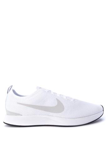 Nike white and multi Men's Nike Dualtone Racer Shoes NI126SH0WCLKID_1