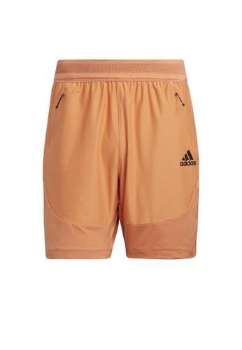 ADIDAS orange adidas HEAT.RDY Training Shorts 1022DAAA0B5446GS_1