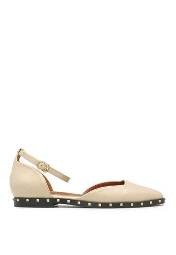 Carlo Rino beige Carlo Rino 33350-A001-31 D'orsay Flats Sneaker (Beige) 71BF3SH50B9A1AGS_1