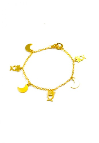 Jewelplace gold Multi Charm Stainless Steel Bracelet JE882AC0JFJVPH_1