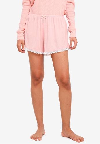 Cotton On Body pink Rib Lace Shorts 46524AA88B98D3GS_1
