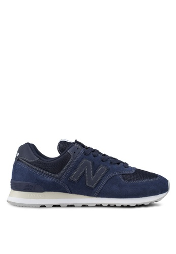 New Balance navy 574 Lifestyle Classic Tonal Shoes 6EC94SH31581F8GS_1