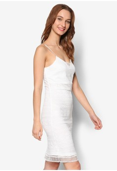 Lace Strappy Bodycon Dress