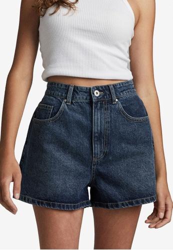 Cotton On blue High Mom Denim Shorts F8439AA86AE503GS_1