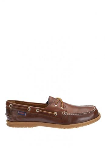 Sebago brown Litesides Two Eye Boat Shoe SE328SH36IALPH_1