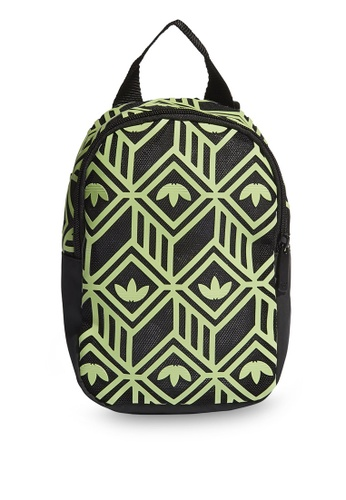 ADIDAS black patterned mini backpack 867D2AC6CCFDF1GS_1