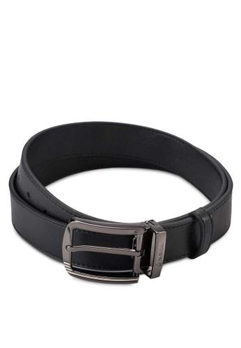 Swiss Polo black Leather Belt SW912AC15ZYEMY_1