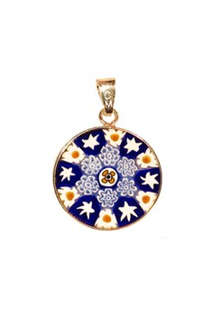 Millefiori Glass Pendant - 4th of July 18mm