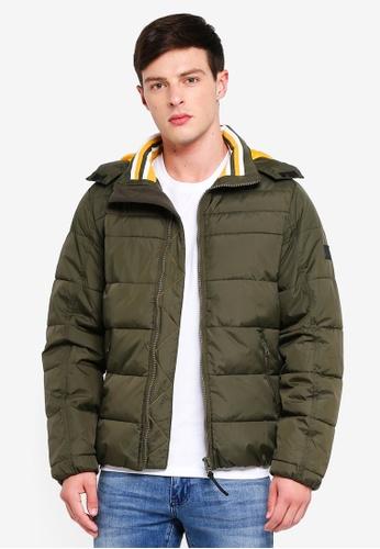 Indicode Jeans 綠色 連帽保暖外套 C2F65AA5010182GS_1
