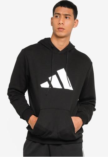 ADIDAS black sportswear future icons logo graphic hoodie 64BD6AAD859AF6GS_1