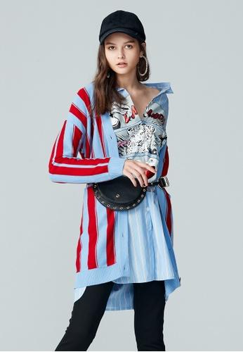 iROO multi Mid-length Knitted Cardigan 8BEDAAAD7DBC0FGS_1
