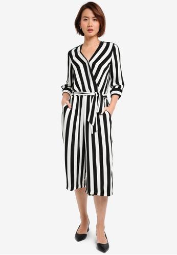 Buy Wallis Petite Monochrome Striped Jumpsuit Online On Zalora Singapore