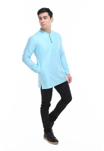 Amar Amran blue Kurta Rayqal CEB7EAAD3017A4GS_1