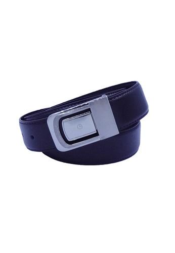 Goldlion blue Goldlion Men Leather Plate Belt - Khaki / Dark Brown 34D15AC76E4FDCGS_1