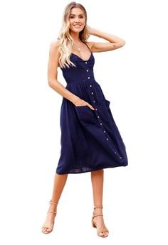 835ed95862fdf Seoul in Love blue Myra Dress in Navy Blue 6BA18AA62F3F99GS 1