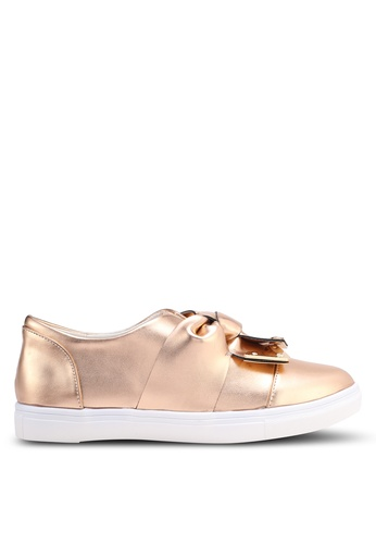 LOST INK gold Sienna Metal Tip Bow Plimsolls LO238SH0T1R2MY_1