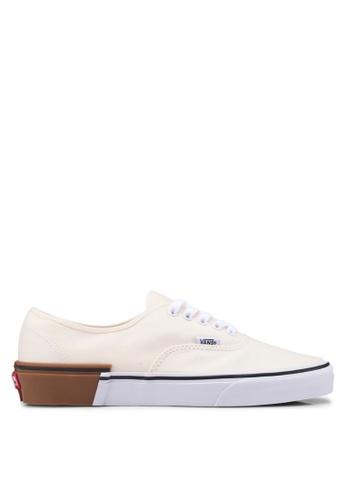 VANS yellow Authentic Gum Block Sneakers 63368SHD1E4D22GS_1
