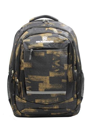 Neckermann black and gold Neckermann Backpack Series 0128 05FA4AC9C6B766GS_1