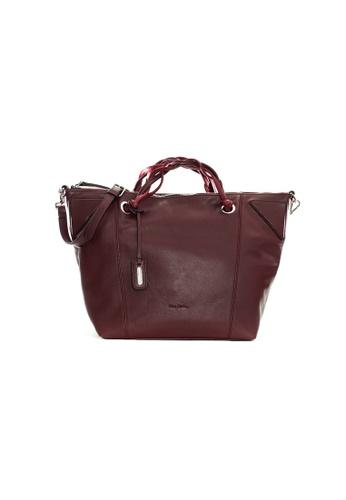 Pierre Cardin red Pierre Cardin Nicolle Medium Tote Bag 8E4DEAC4B41C9AGS_1