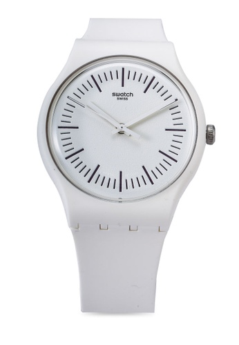 Swatch white SUOW173 White N Purple Watch C77EEAC537A2ADGS_1