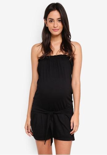 Envie De Fraise black Maternity Combishortbustier Dungarees 2C67DAAAA71E6EGS_1