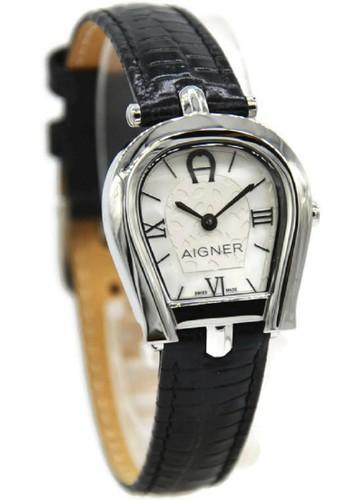 Aigner black and silver Aigner A07308 Perugina Jam Tangan Wanita Leather  Strap Hitam Ring Silver AI473AC92CFVID 1 d18e068920