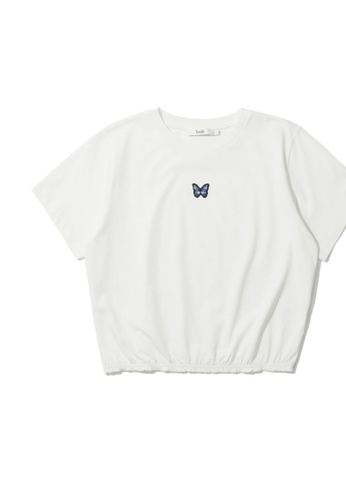 b+ab white Embroidered tee C2C2BAAF25A291GS_1