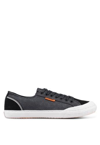Superdry black Retro Low Pro Sneakers EF64ESHF7BB082GS_1