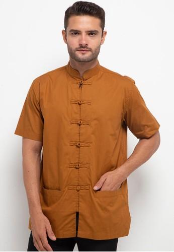 Salt n Pepper yellow S/S-Men Shirt 39364AA23A0EF4GS_1