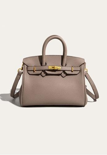 Lara grey Business Women's Elegant Leather Hand Bag Shoulder Bag - Grey A4684AC6DAE03FGS_1