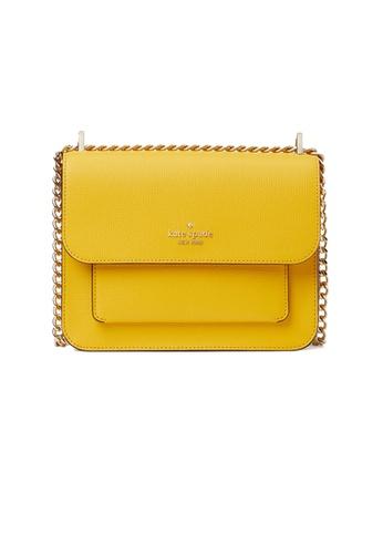 KATE SPADE yellow Kate Spade Remi Flap Chain Crossbody wkr00552 Sunflower Field 16686ACC052B46GS_1