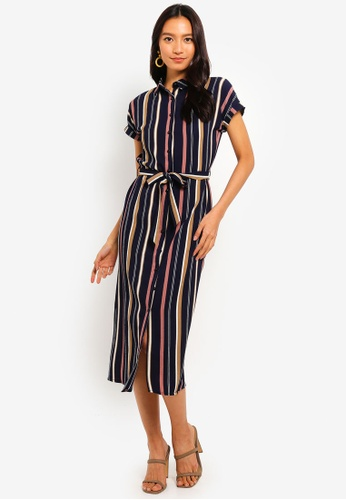 Mela London multi Midi Shirt Dress 86B50AA3CF4EDAGS_1