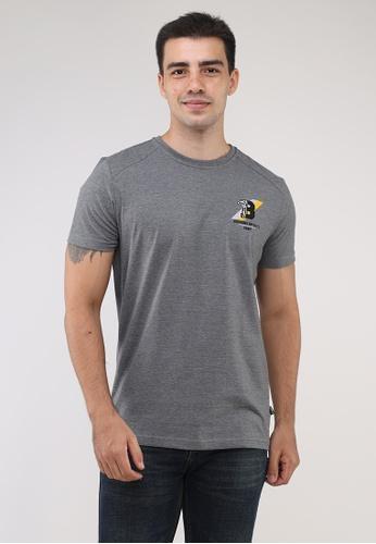 Bossini Men black Round Neck Crazyline Short Sleeves T-Shirt 188DAAAA913DA1GS_1